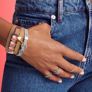 Image 5 - S925 argento del braccialetto di colore set FAI DA TE Bracciale con charms s925 Fit di lusso originale charms Braccialetto Delle Donne Gioielli regali per le donne