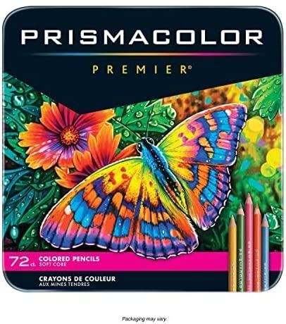 Оригинальный карандаш Prismacolor Premier, 72 цвета, карандаш для рисования маслом, 4,0 мм, мягкий футляр, железный ящик, карандаш Sanford Prismacolor