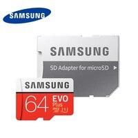 Samsung evo plus cartão tf microsd 64gb 100 mb/s cartão de memória completo hd UHS-I u1 class10 sdxc flash trans para gravador de condução