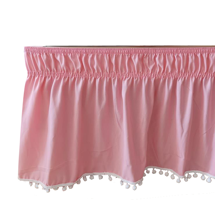 1PC Bed Skirt Solid Color Wrap Around Elastic Bed Shirts Without Bed Surface Bed Skirts Twin/Full/Queen/King Home Hotel Use #/