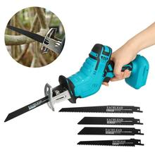 Power-Saws-Tool Reciprocating-Saw Cutting 18v Makita Battery Woodworking 4-Saw-Blades