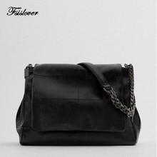 Vintage Simply PU Leather Crossbody Bags For Women 2021 Solid Color Shoulder Messenger Bag Lady Chain Travel Handbag Women Purse