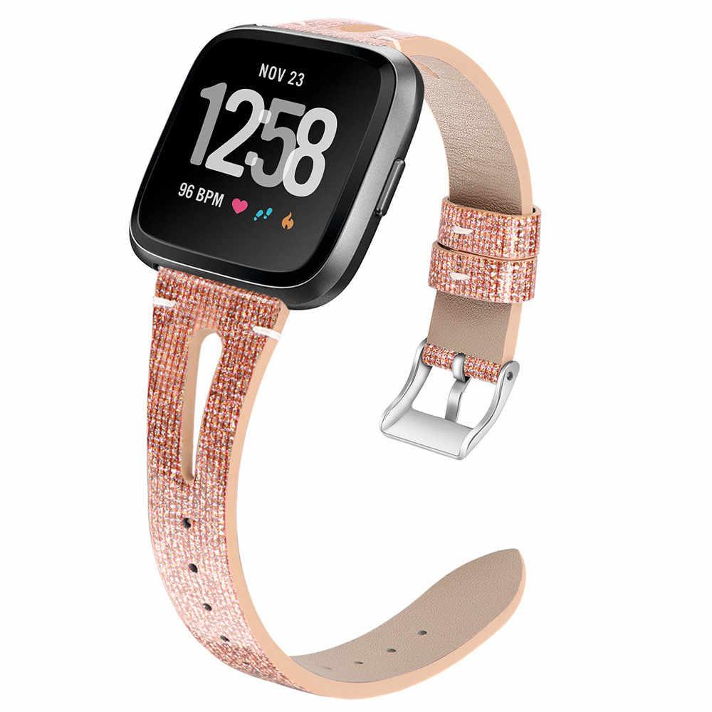 سوار ذكي بو + جلد بلينغ حزام (استيك) ساعة معصمه ل Fitbit العكس ساعة ذكية حزام جهاز تعقب للياقة البدنية #40