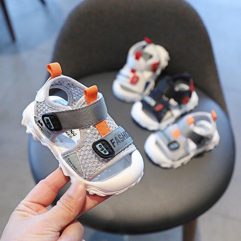 Baby Boys Girls Sandals 2020 Summer Infant Toddler Shoes Soft Bottom Non-slip Anti-collision Sandals Kids Children Beach Shoes