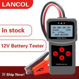 Image 1 - Lancol micro200pro 12 12v車のバッテリーテスターバッテリー容量デジタル自動車抵抗テスターサプライヤーツール40に2000cca