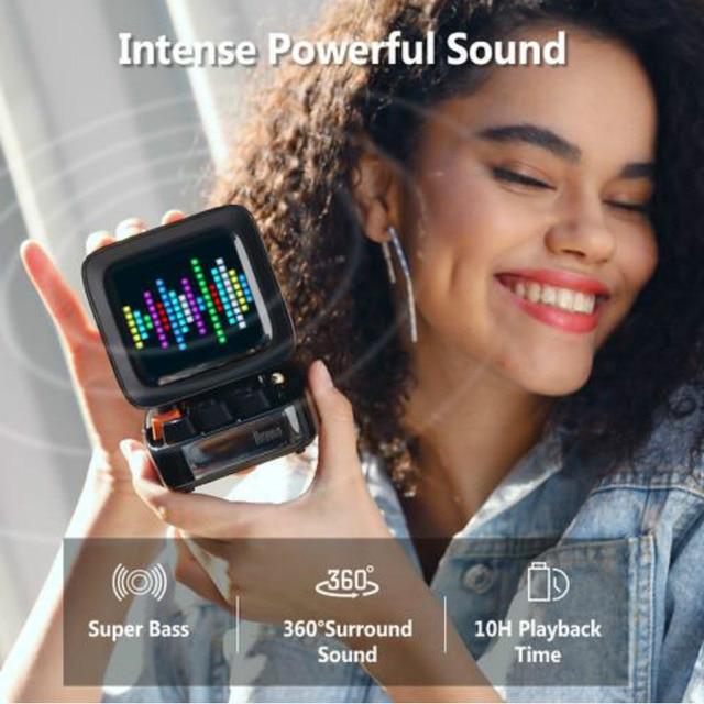 Divoom Ditoo Speaker Bluetooth Portable Mini Sound Box Alarm Clock Music Box LED Screen Night light Online Radio By APP Pixel Ar 2