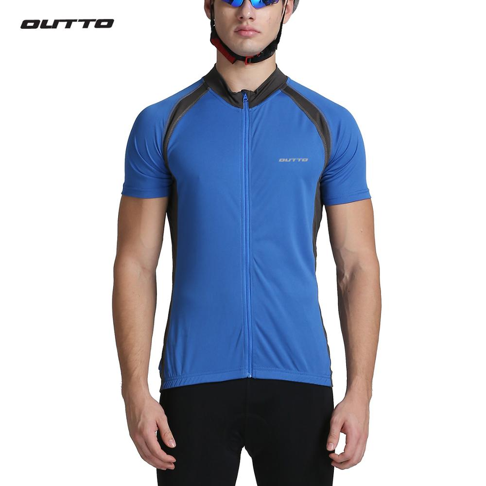 Outto men's summer cycling jersey short sleeve bicycle jersey for men breathable bike shirt