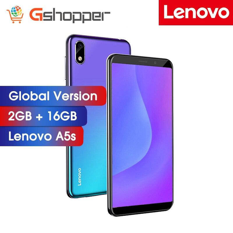 Versão global lenovo a5s 2 gb 16 gb mt6761 quad-core 13mp câmera smartphone 5.45 Polegada hd 18:9 tela 3000 mah rosto desbloquear telefone