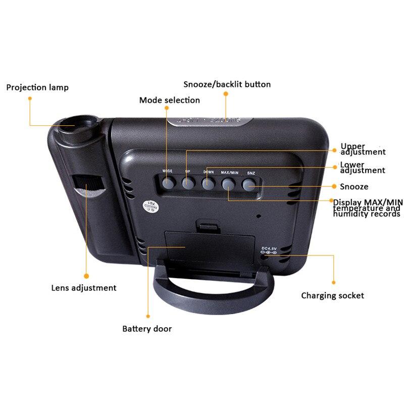 LED Projector Alarm Clock  4