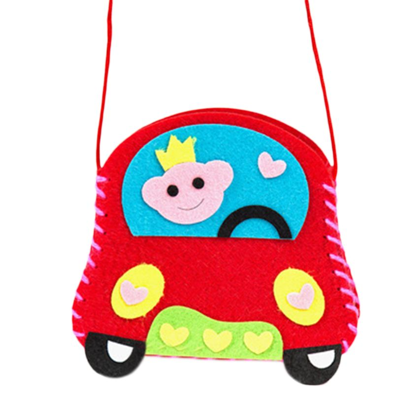 Children Early Childhood Educational Toy Kids Manual Cloth Bag Cute DIY Craft Kit Creative Handmade Materials K4UE