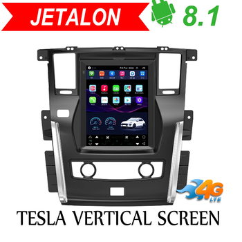 Jetalon Smart Car Navigation 4G Network for NISSAN PATROL 2010-2018 stereo Android Car GPS Vertical radio Reversing  All-in-One