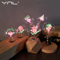 Vintage G80 Edison Bulb LED E27 220V Flower Love Rose lamp incandescent bulb indoor night light Holiday christmas wedding decor