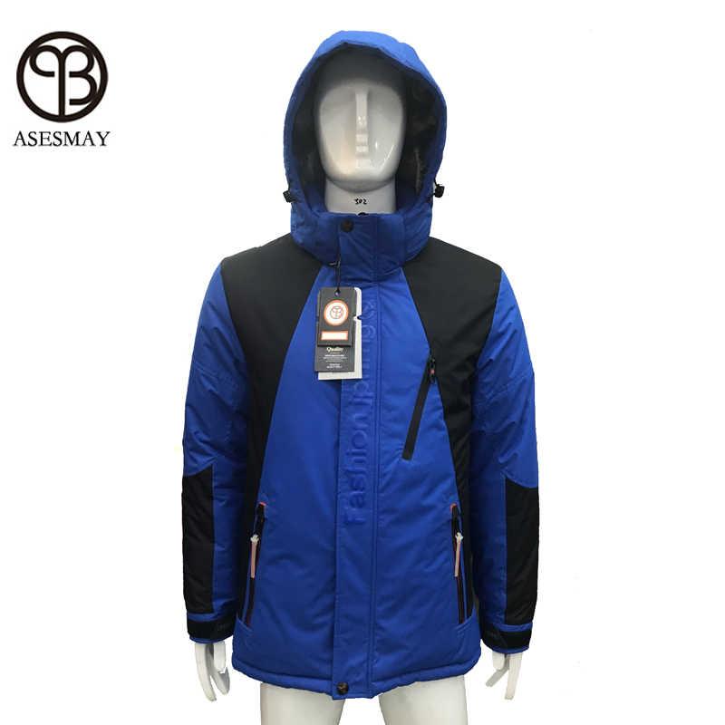 חורף מעיל גברים parka גבוהה באיכות מינוס תואר-40 לעבות חם רצים הלבשה עליונה אימונית זכר חורף מעיל