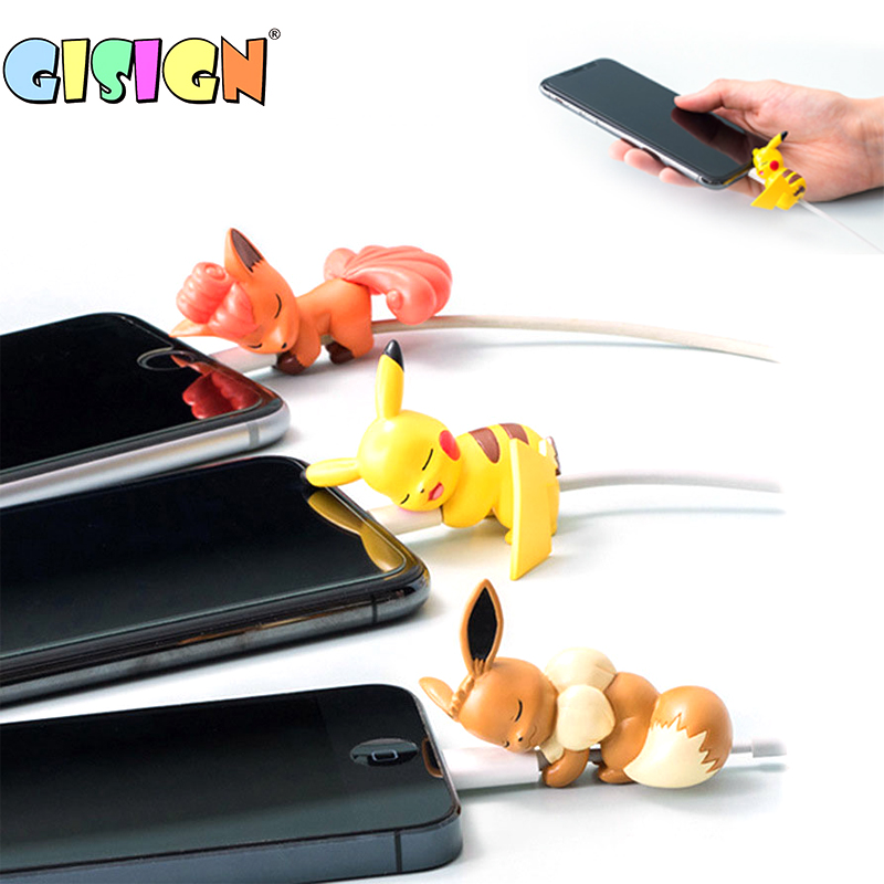 1pcs Cable Bites Protector For Apple Iphone Cute Cartoon Animal Phone Charging Cable Bites Holder Phone Accessory Doll Kids Toys