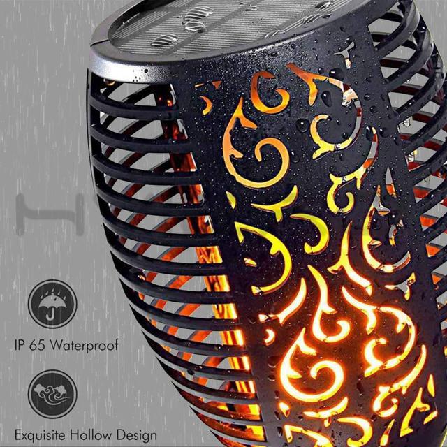 Купить светодиодный светильник с пламенем на солнечной батарее водонепроницаемый картинки цена