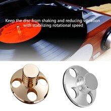 เสียงทนทานลดสั่นน้ำหนักClamp Disc StabilizerแบบพกพาเพลงBalancedโลหะผสมLPแผ่นเสียงไวนิลHIFI