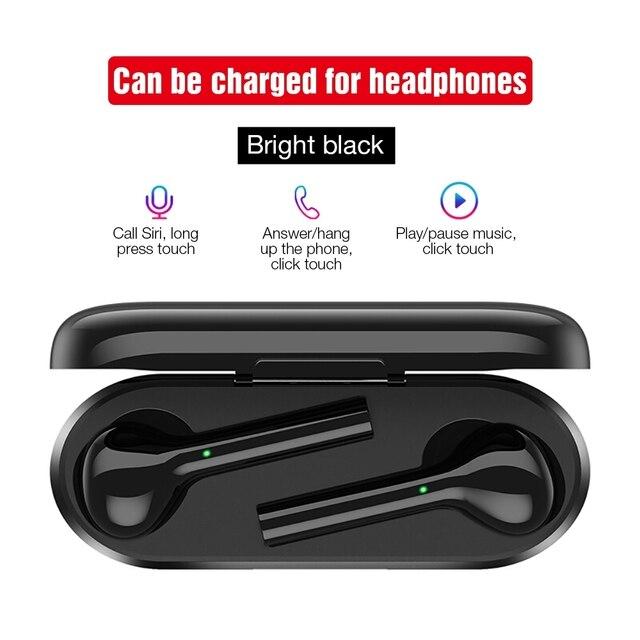 TOMKAS Freebud TWS Wireless Bluetooth Earphones 5.0 True Wireless Earbuds Headset Stereo Bluetooth Headphones with Mic for Phone 3