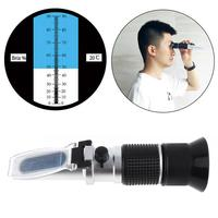 2 In 1 0 90% Brix Adjustable Sugar Beer Fruit Meter Refractometer with Pipet and Mini Screw Driver Support Manual Focusing