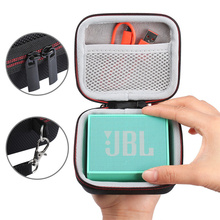 Storage Bag, Portable Large Capacity Storage Case with Hand Strap for Bluetooth Speaker Data Lines(Accessories Not Included )