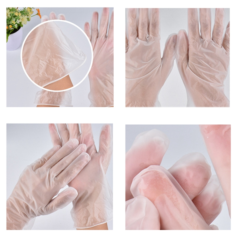 100 Disposable Latex Gloves White Non-Slip Acid and Alkali Laboratory Rubber Latex Gloves Household Cleaning Supplies
