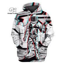 PLstar Cosmos Astronaut suit in the space sky 3d hoodies/shirt/Sweatshirt Winter autumn funny Harajuku Long sleeve streetwear