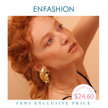 Enfashion Gold Leaves Earrings for Women Gold Color Leaf Drop Earrings Oorbellen Voor Vrouwen Earings Fashion Jewelry EC181044