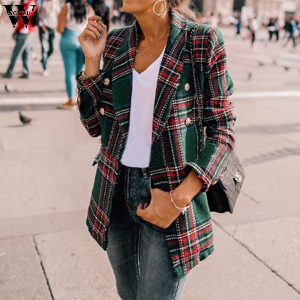 Womail, женская элегантная куртка, 2019, пальто, Красная клетка, Женский офисный жакет, модное пальто, для работы, костюм, для работы, элегантное, Осеннее, 85|Куртки|   | АлиЭкспресс