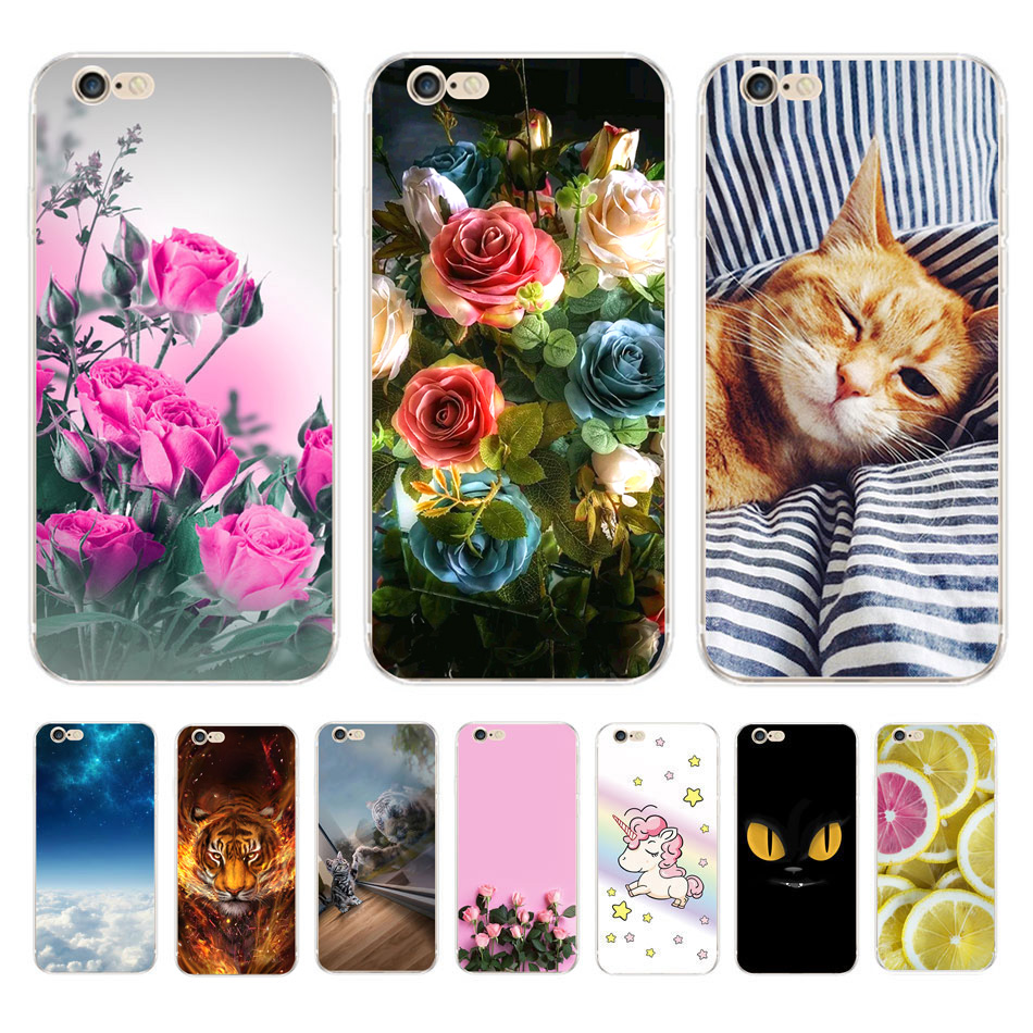 For Case Apple iphone 5 se 5s For Coque iphone 5s 5 Phone Housing Soft Silicone
