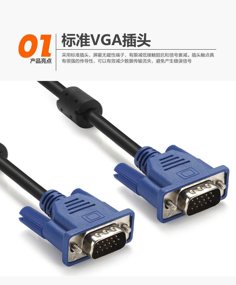 Новейший 1 шт. 1,3 м компьютерный монитор VGA в VGA кабель с HDB15 папа к HDB15 разъем для ПК преобразователь для ТВ-адаптера