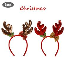 Christmas Antler Headband Bell Cartoon Cute Decoration Holiday Performance Supplies Cosplay Party Fancy Dress
