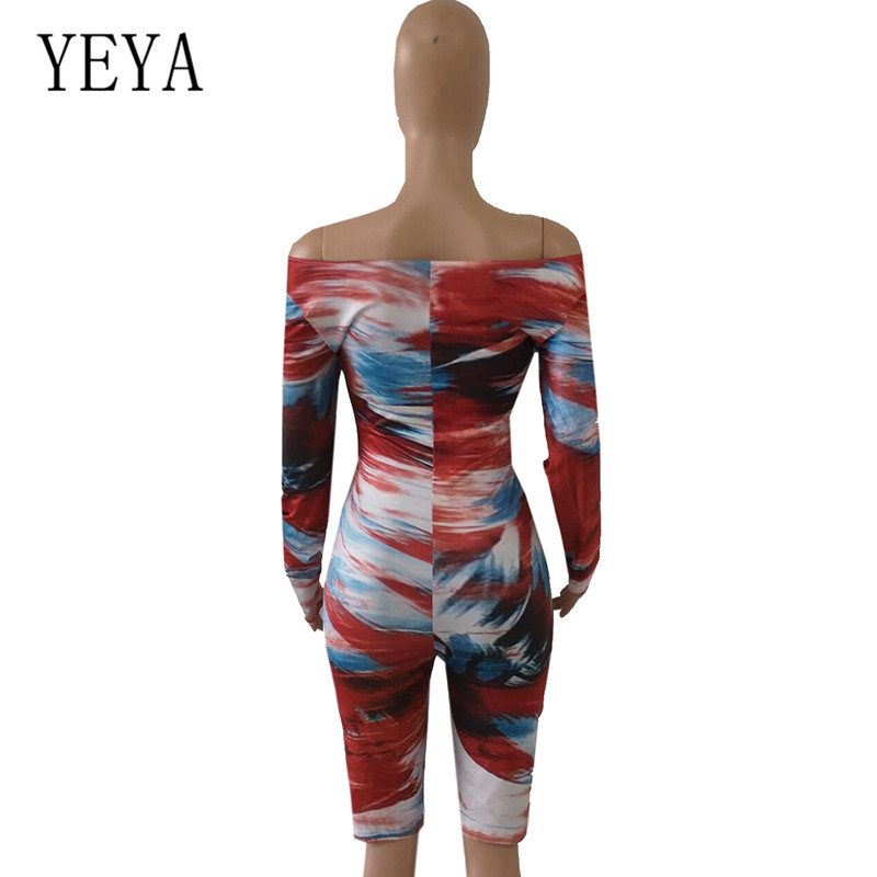 YEYA Romper Women Playsuits New Vintage Print Long Sleeve Hollow Out Jumpsuits Elegant Bodycon Bandage Stylish Retro Overalls in Rompers from Women 39 s Clothing