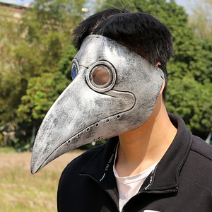 Image 2 - Retro Steampunk Plague Doctor Cosplay Mask Bird Gothic Punk Funny Latex Party Halloween Costumes Props