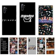 BEST Friends USA TV สีดำ Soft Case สำหรับ Samsung Galaxy S8 S9 S10 PLUS LITE S10E หมายเหตุ 3 4 5 6 7 8 9 10 Pro(China)