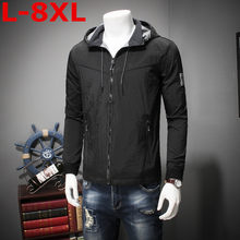 Grote Plus Size 8XL 7XL 6XL Mannen Hoodies Nieuwe Ontwerp Mannelijke Solid Casual Fleece Sweater Mannen Slim Fit Rits populaire Jas(China)