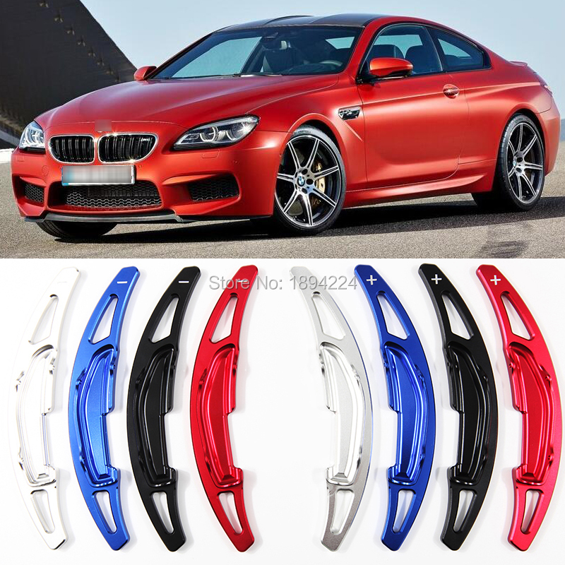 2pcs Aluminum Car Steering Wheel Shift Paddle Shifter Extension For BMW M6 2013-2016