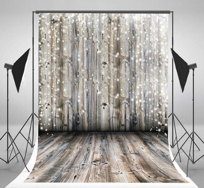 Christmas Vintage Snow Falling Wood Photo Backdrop Photophone Photography Backdrops fotografia Photo Studio Background in Background from Consumer Electronics