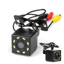 Câmera de visão traseira do carro universal 12 led night vision backup estacionamento câmera reversa à prova dwaterproof água 170 grande angular hd cor imagem