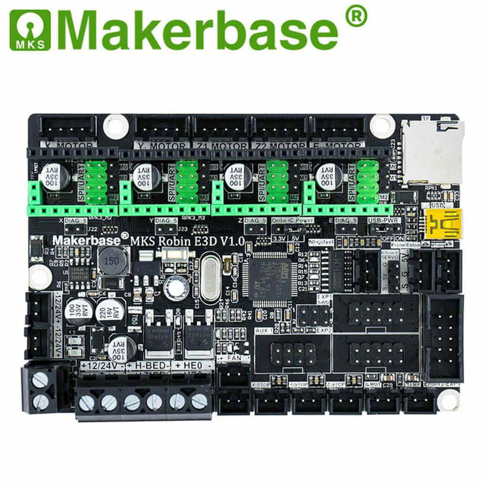 Makerbase MKS Robin E3 E3D 32Bit Tablero de Control piezas de impresora 3D con tmc2209 Uart controlador de modo para ender 3 CR-10
