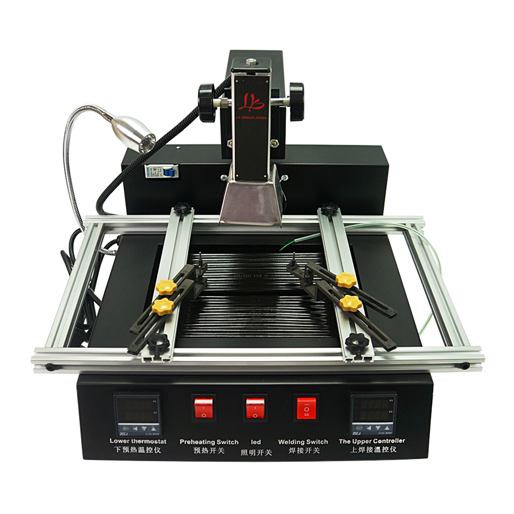 220V 1900W Manual Model Hot Smd Ir 2 Bga  Station Ly Zones Air Soldering M770 Automatic Station Operation Rework