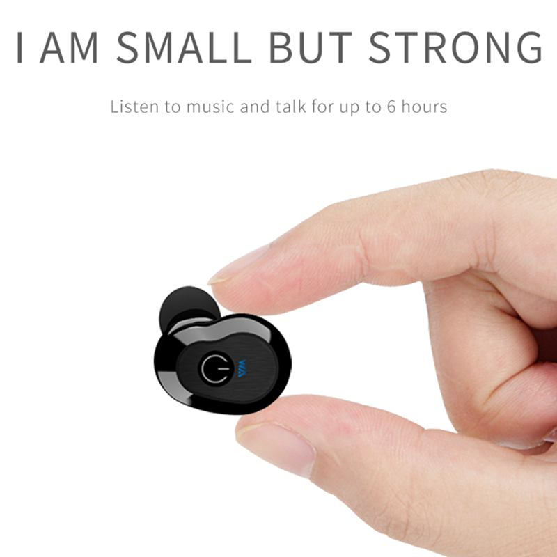 WA02 Business Bluetooth Earphones Wireless 3D Hifi Stereo Earbuds Headset and Power Bank With Microphone Handsfree Calls in Bluetooth Earphones Headphones from Consumer Electronics