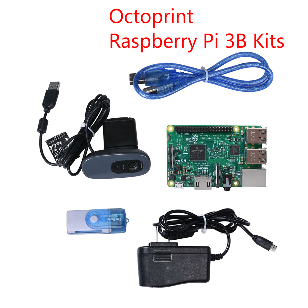 Octoprint For Raspberry Pi 3 Model B Develop  Board Kit With The Camera  Power Adapter  For Ender 3 3D Printer High Quality