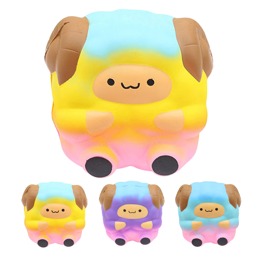 Jumbo Sheep Squishy Cute Galaxy Rainbow Alpaca Slow Rising Scented Stress Novelty Antistress Toys Gift Funning Toys L1218