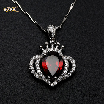 JYX Beautiful Garnet Pendant Oval Faceted Jewelry for Women Everyday Holiday Gift