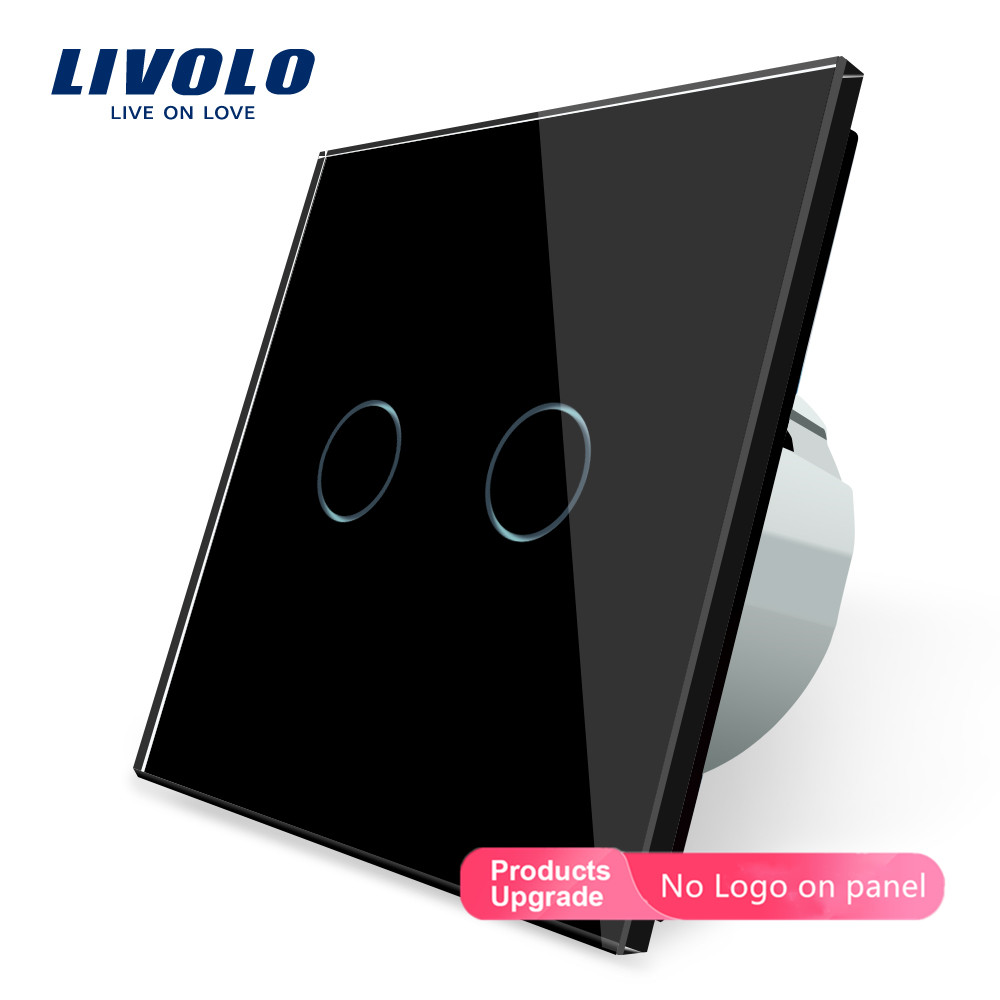 Image 4 - Livolo Wall Light Touch Switch With Crystal Glass Panel,colorful switch,led indicator light,universal wall switchesSwitches   -