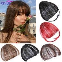 Женский парик, фронтальная челка, искусственные синтетические волосы для наращивания, зажим для волос с бахромой, термостойкие искусственн...