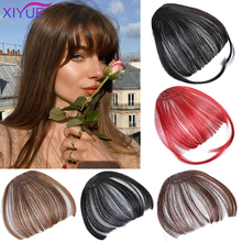 Women Wig Front Blunts Bangs Fake Synthetic Hair Extensions Clip