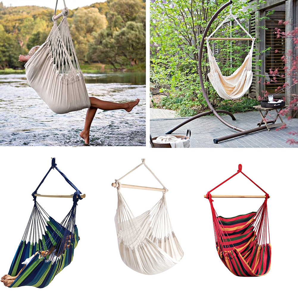 Hammock Garden Hanging Chair Outdoor Camping Hammock Bed Bedroom Dormitory Hanging Bed without Sticks and Ropes|Hammocks| - AliExpress