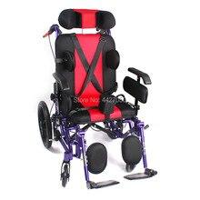 Высокое качество можете лежать на спине детская ДЦП инвалидная коляска с ручным приводом тележка