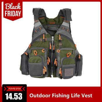 Outdoor Sport Fishing Life Vest Men Breathable Swimming Life Jacket Safety Waistcoat Survival Utility Vest Colete Salva-Vidas - Category 🛒 Sports & Entertainment