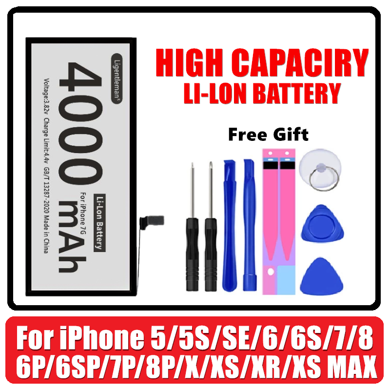 Aaaaa-Battery Replacement iPhone6s High-Capacity Original 8-Plus for 5S 5C 6/7/8-plus/..